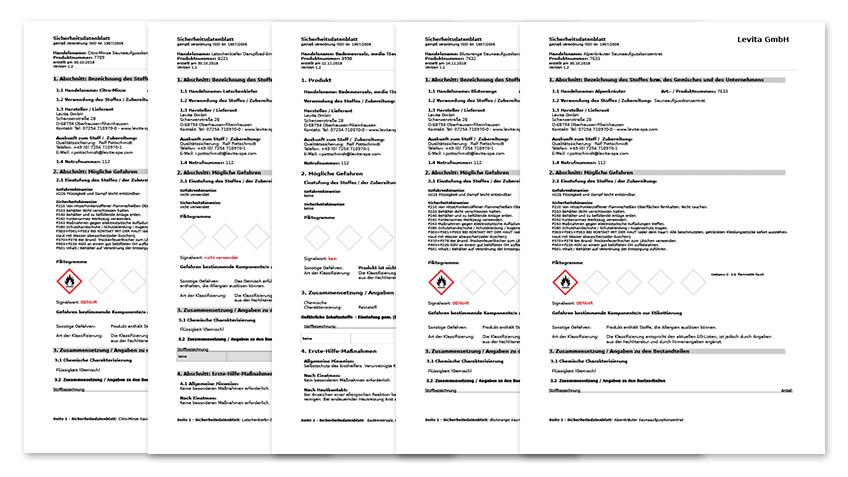 Sicherheitsdatenblätter (immer) aktuell